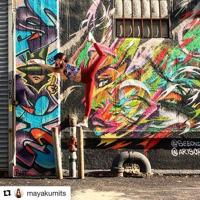 "#Repost @mayakumits ・・・ ""Step with care and great tact, and remember that life's a great balancing act"" -Dr. Seuss 📍 ____________________________________________________________ #mayamoves #yoganyc #nycyoga #yogamom #yogainspiration #yogabliss #yoga #asana #fitness #yogainspo #yogaeverywhere #yogisofinstagram #yogaphotography #yogafun #selfpractice #dancerpose #natarajasana #drseuss #balance #streetart #streetartnyc #longislandcity #longislandcityny #seeoneart #artsorg"