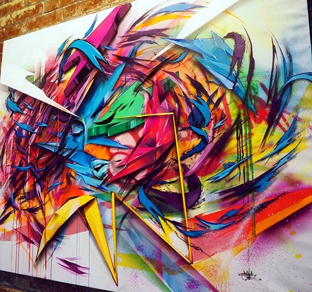 Tbt: 01 ⚡ #seeone #shards #graffiti #streetart  #art #paint #newyork #fineart #graffuturism #abstract #futurism #abstractexpressionism #tbt
