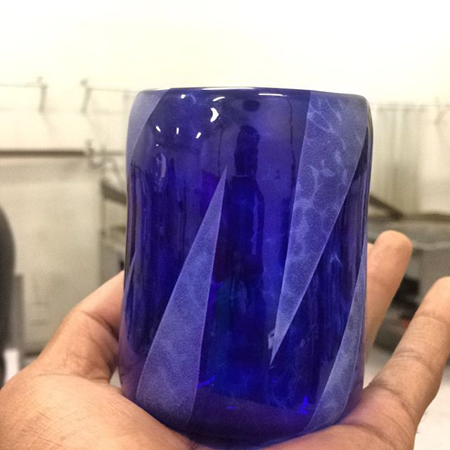 Been taking glassblowing classes since September. Made this little whisky glass joint last week . . . . . #glassblowing #sandblasting #art #glassart #urbanglass #brooklyn