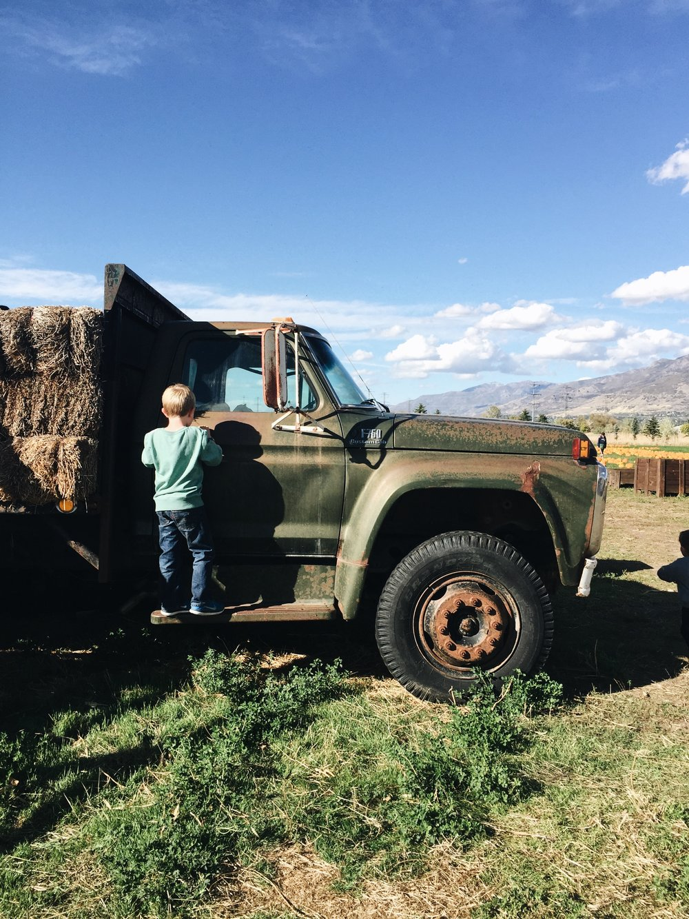 Matthew loves old trucks.
