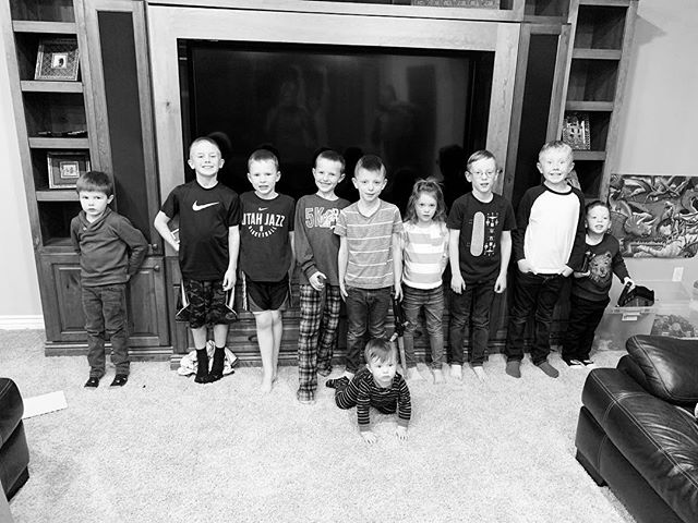 Just a giant group of boy cousins (plus sweet Miss Kate who so patiently puts up with being the only girl)! Laughed my head off tonight with some of my favorite people, and these boys played their hearts out. Nothing quite like family! ❤️🎄