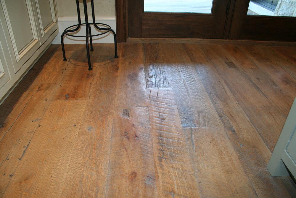 Antique Skip Sawn Oak Wood flooring in Westlake, Tx.