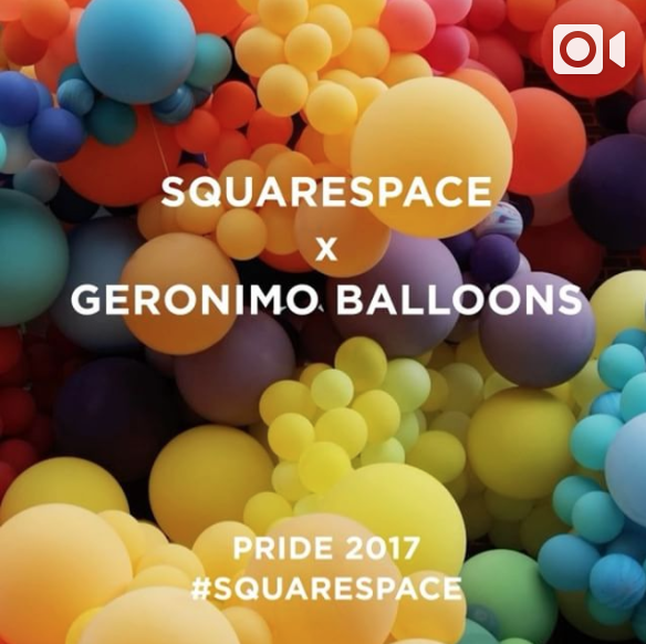 Squarespace x Geronimo Balloons for NYC Pride