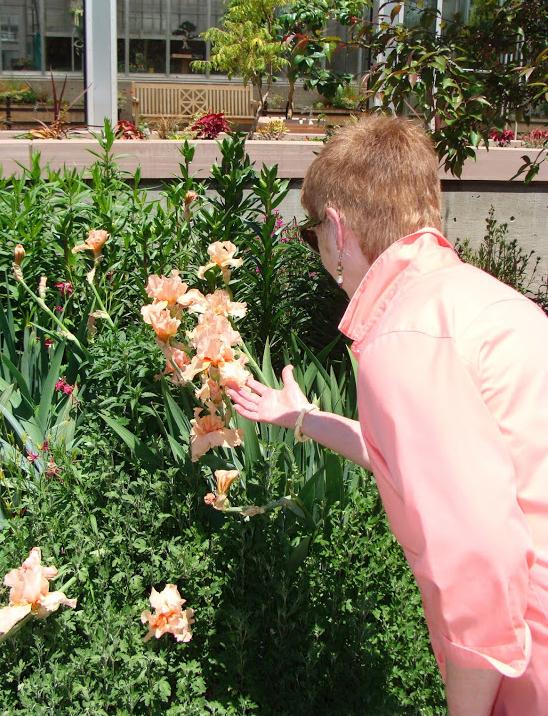 2014 June 14 Botancial Gardens Denver 12 Irene holding flower_72