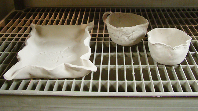 Pottery pieces drying_72