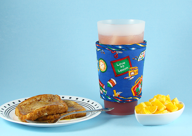 Thinsulate insulated School Daze Large Kup Kollar on a 32 ounce glass.