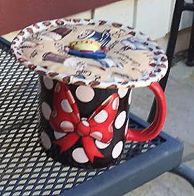 Coffee Drinks Kup Kap on Disney mug