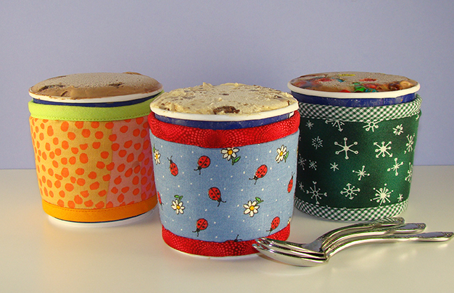 Thinsulate insulated Kream Kollars - Sherbet, Lady Bugs & Daisies, Snowflakes on Green..