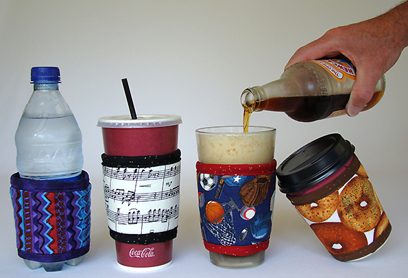 Fits 12- to 24-ounce beverage containers