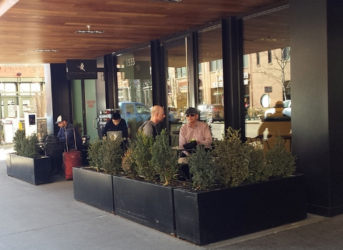 Denver Little Owl Coffee 2018 Mar outside tables Sean Perry.jpg