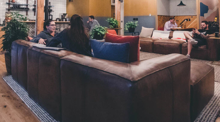 "People on couches have become a common scene in specialty coffee shops around the country, even in settings much more modern than Central Perk in  Friends . Some say this ""home-away-from home"" vibe was strongly influenced by the popular TV show."