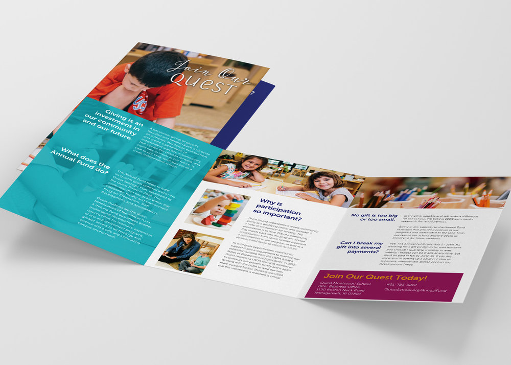 Quest Montessori School Tri-fold Brochure