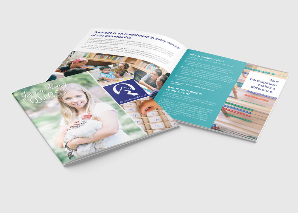 Quest Montessori Annual Fund Brochure