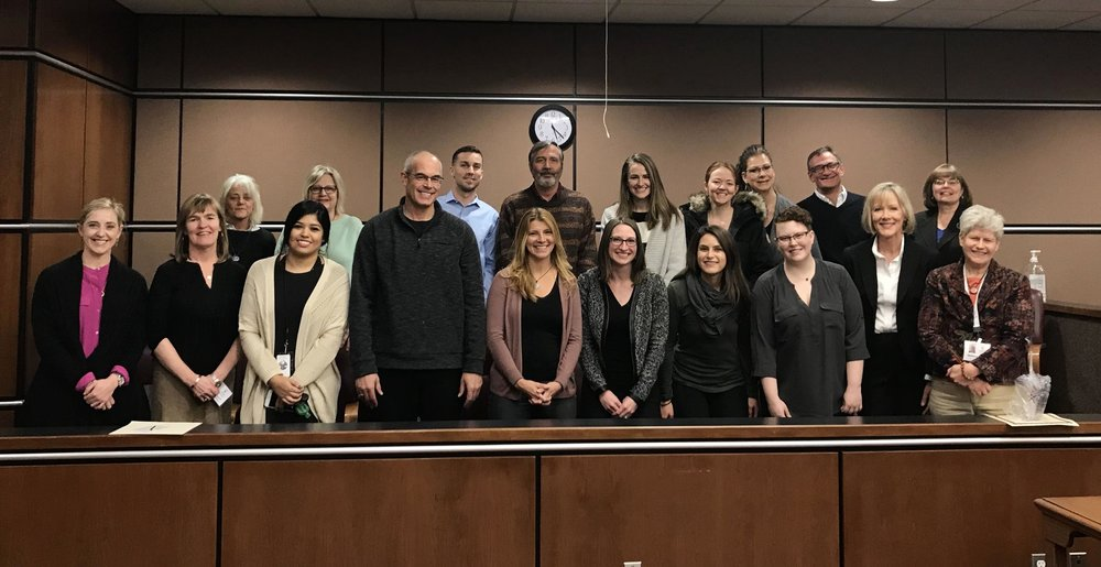 Our training group at our swearing in ceremony!