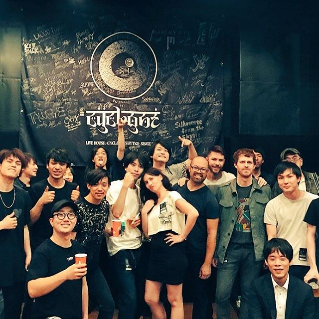 Shibuya Cyclone after party. #livehouse #happyhollows #tokyotour #shibuyacyclone