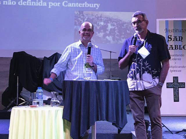 Charles sharing the GAFCON story together with Bp. Miguel Uchoa from Recife