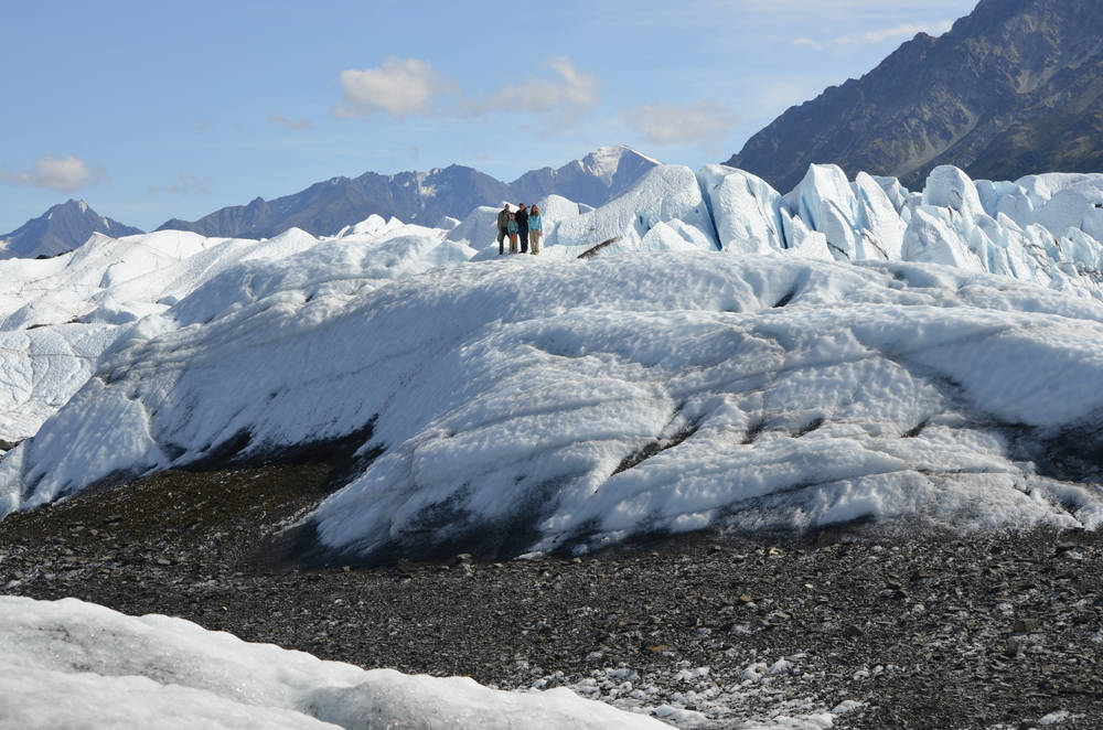 Walk on a glacier
