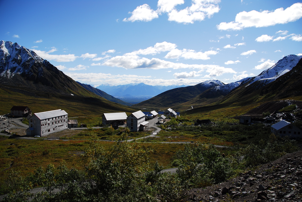 Independence Mine in beautiful Hatcher Pass