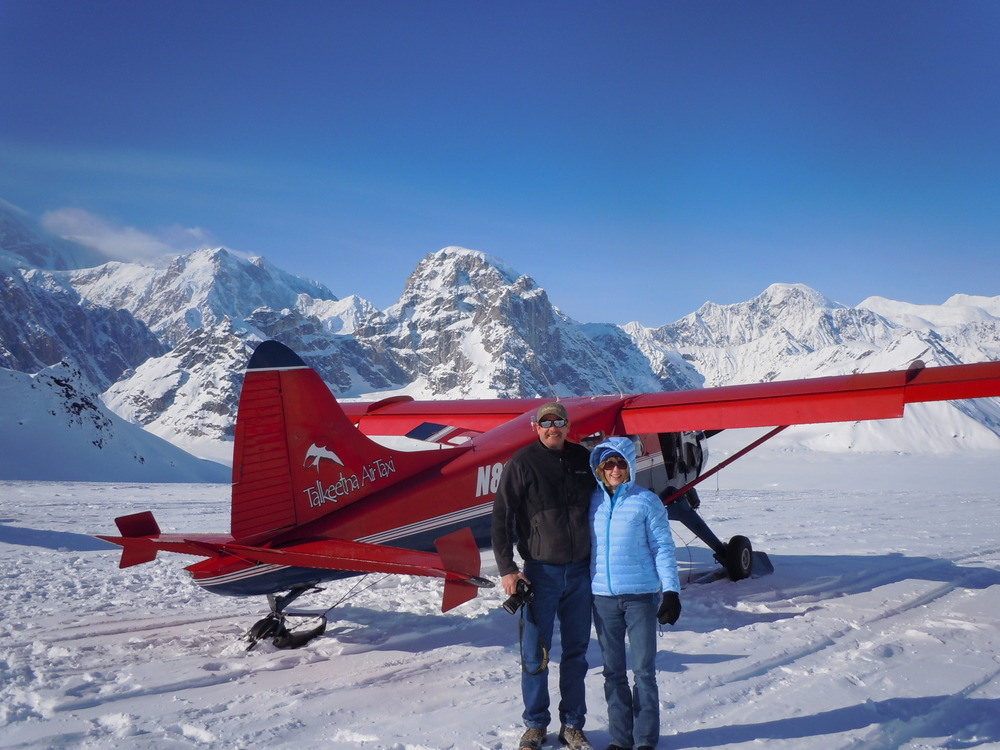 Your hosts flightseeing Denali from Talkeetna