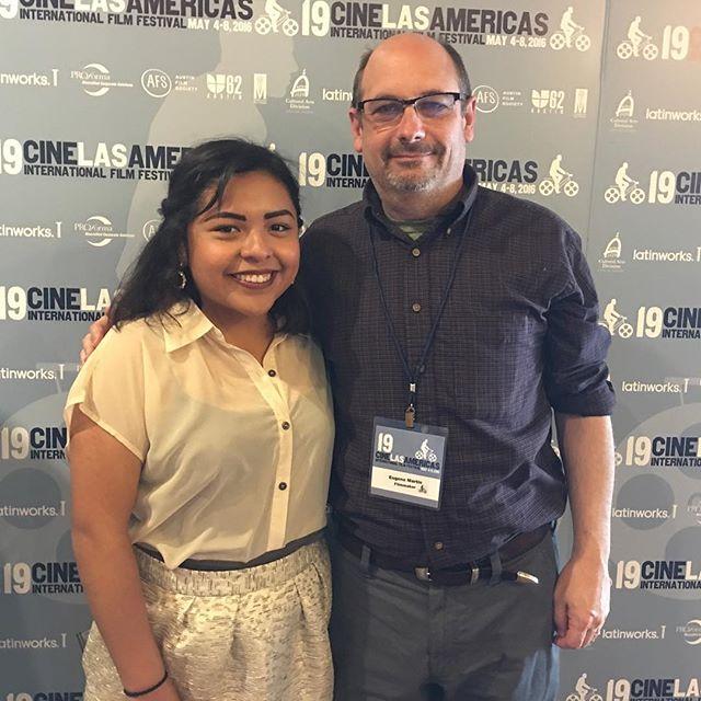 At Cine Las Americas with Cristina Gonzalez. #fightforfamilies #independentcinema #socialjustice #dreamers #latina