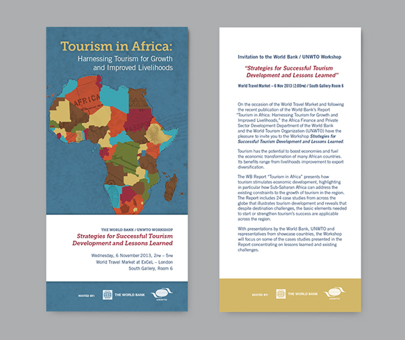 The world bank a plan for transformation through tourism blue entitled tourism in africa harnessing tourism for growth and improved livelihoods we created an informational booklet and one pager which was shared sciox Image collections