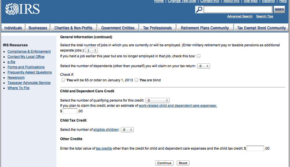 """Irs on twitter: """"to best use the #irs withholding calculator, have."""
