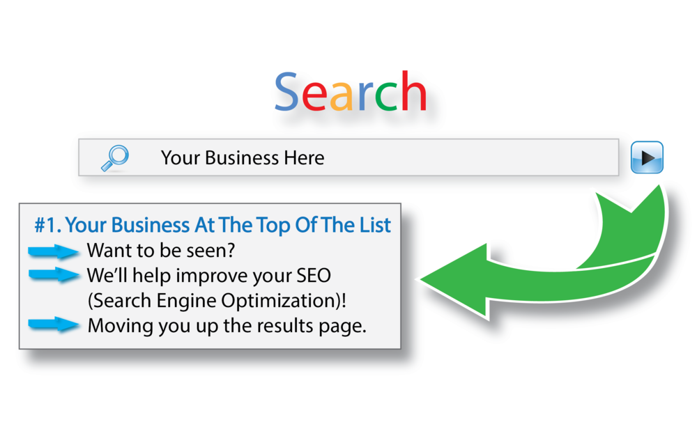 Improve search results for your business, with search engine optimization.