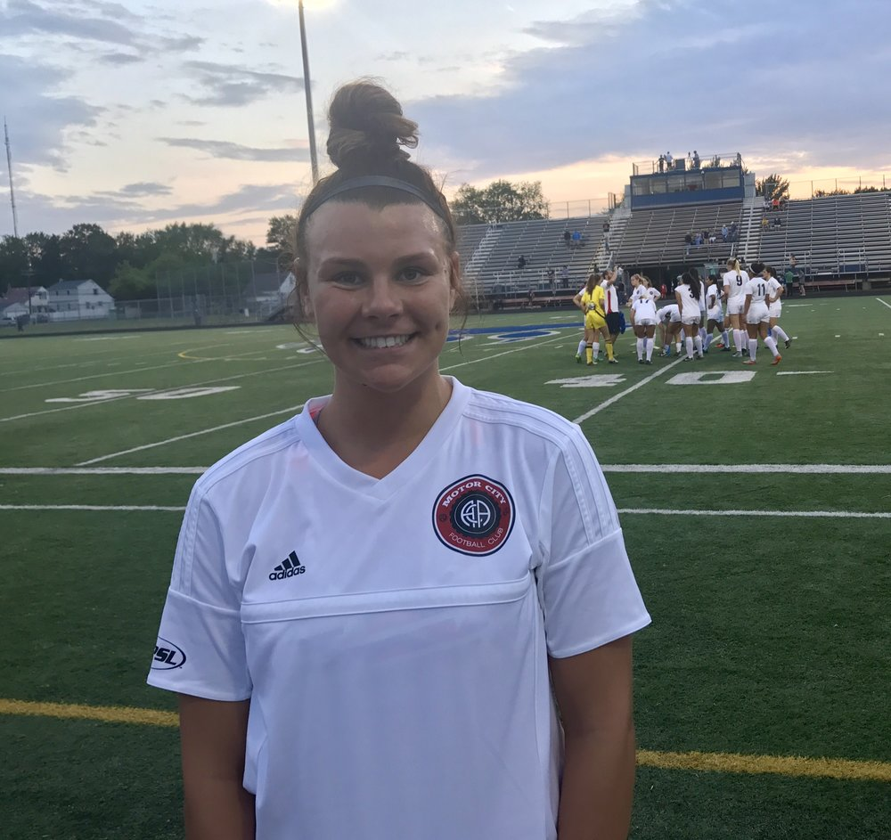 Madison Wolfbauer netted four goals for Motor City FC.