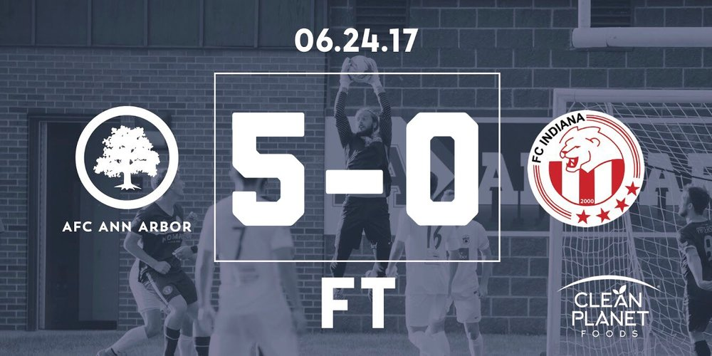 12' Muskwe, 27' Brietmeyer, 49' Lasinski, 51' Farkas, 65' Cisse // Audi Ann Arbor Man of the Match: Yuri Farkas //  Match Recap