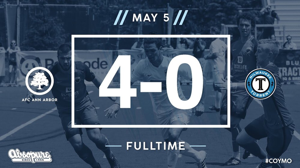 55' Farkas, 74' Ybarra, 85' Breitmeyer, 90' + Freitas -  Audi Ann Arbor Man of the Match: Yuri Farkas   Match Recap  //  Official NPSL Game Report  //  Watch Highlights