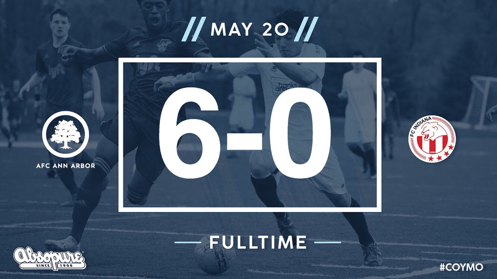 14', 15', 50', 55' Farkas, 65' Shaikly, 81' Lasinski - Audi Ann Arbor Man of the Match: Yuri Farkas    Match Recap  //  Official NPSL Game Report