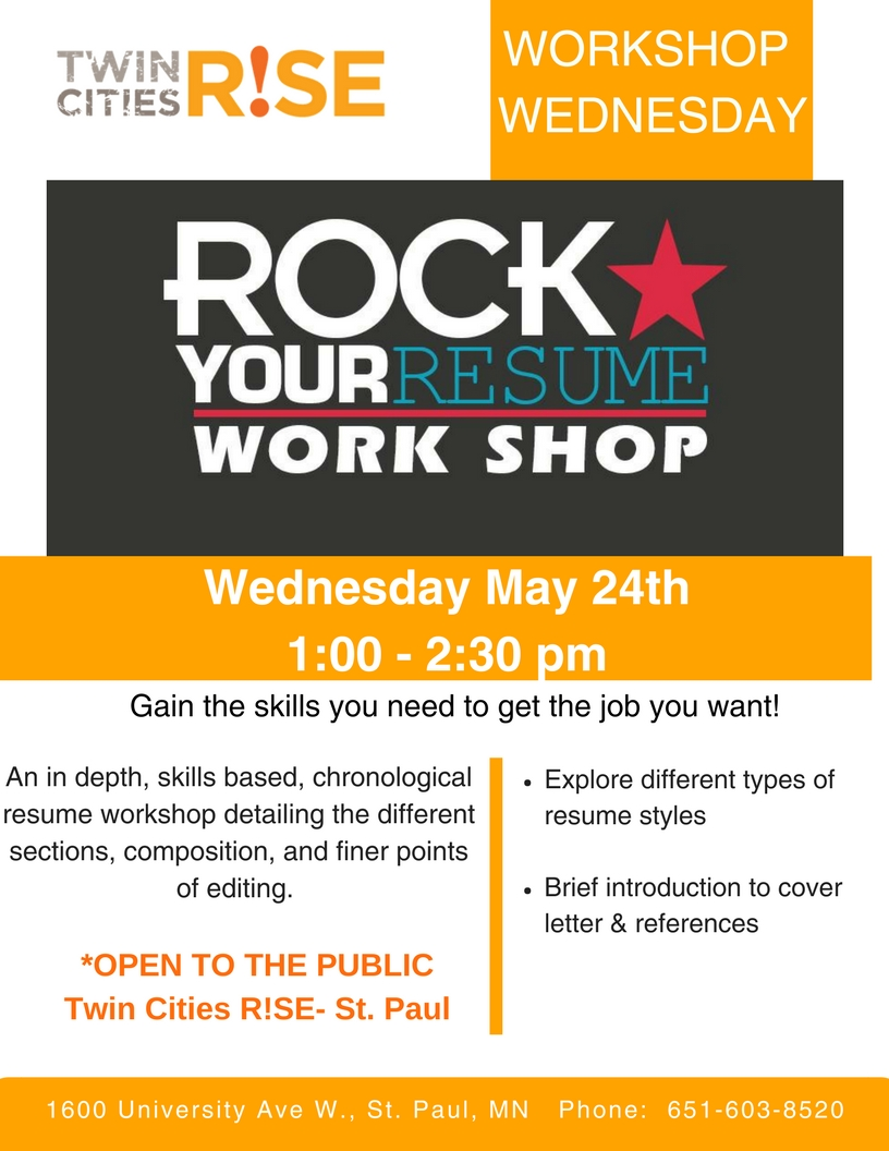 Workshop Wednesday~Rock Your Resume — Twin Cities R!SE