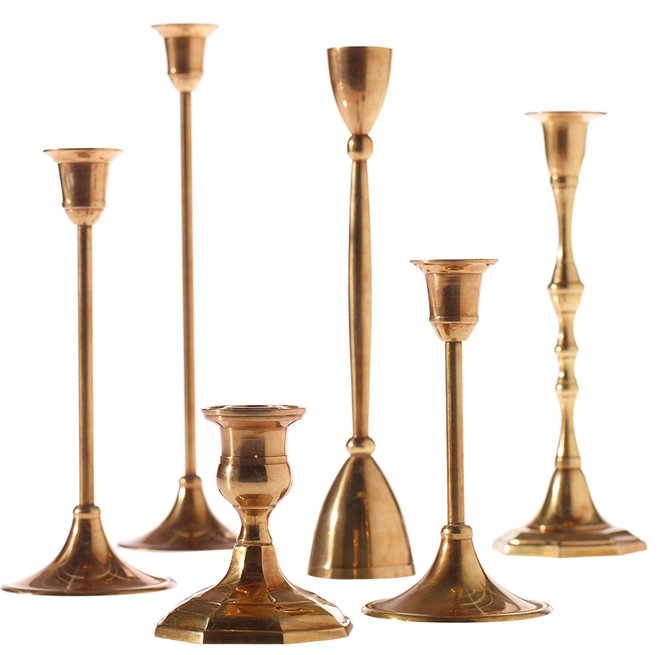 ANTIQUE GOLD CANDLESTICK
