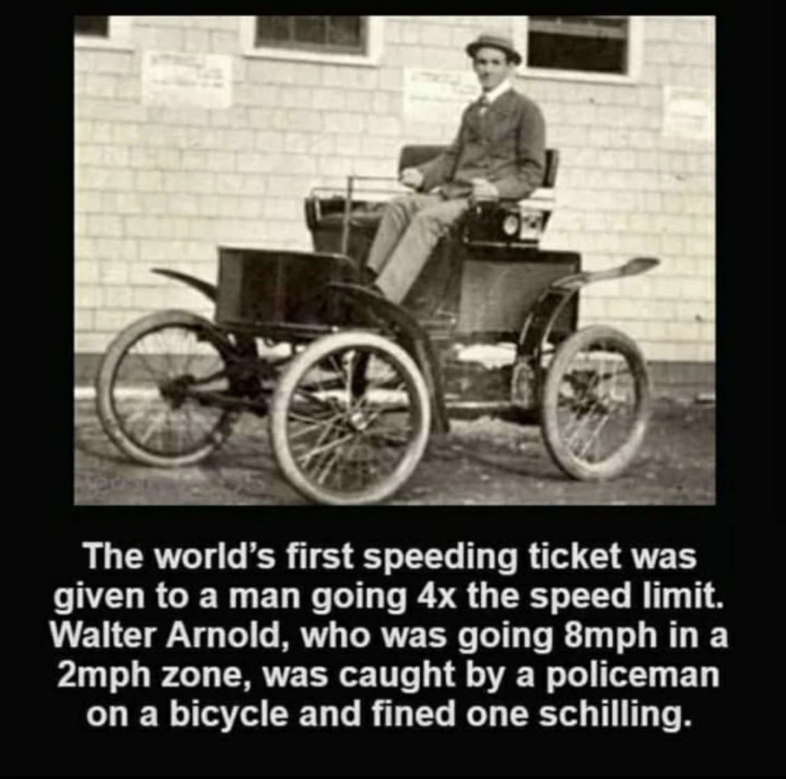 The World's First Speeding Ticket