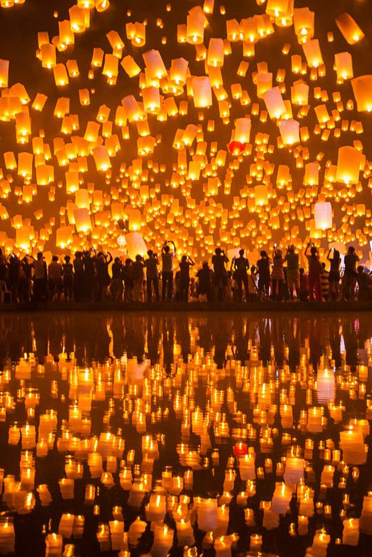 Festival of Lights. Chiang Mai, Thailand.