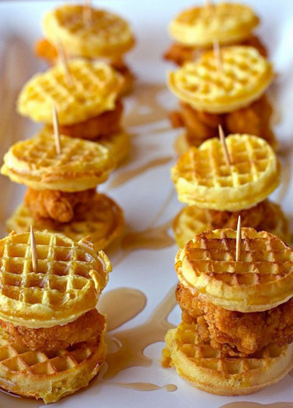 Fried chicken and waffles? FRIED CHICKEN AND WAFFLES!!