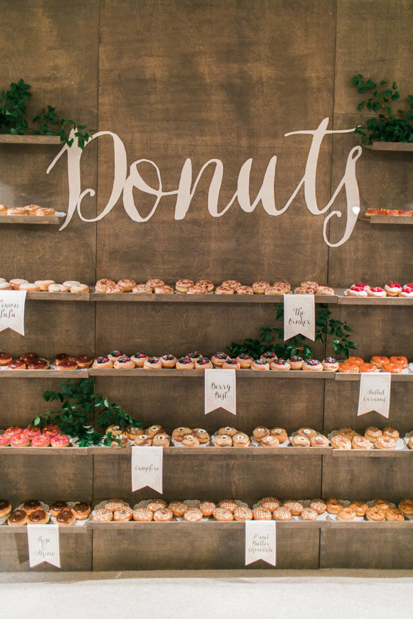 More on the donut wall wedding trend