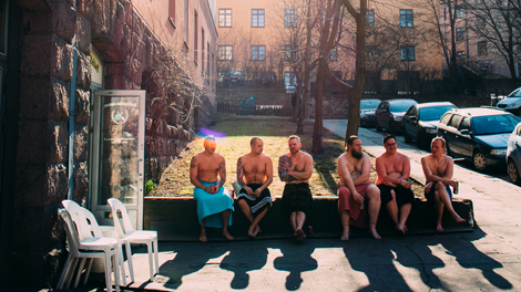 Urban spa scene