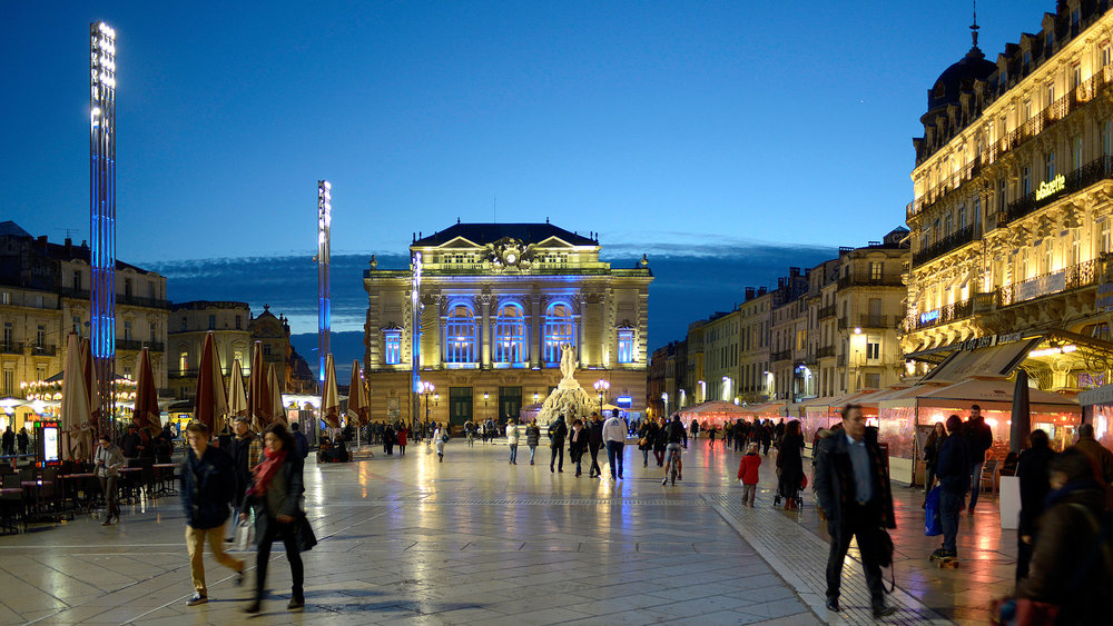 Montpellier's pedestrian center.