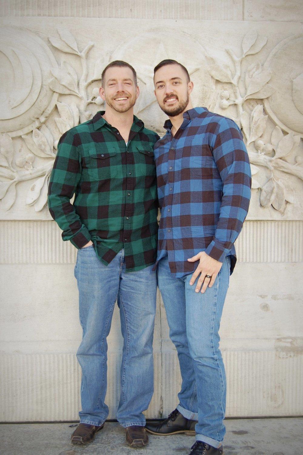 Jeremy & Dustin, photo by Photos by Melody Vinyard (IG: @melodysue8)