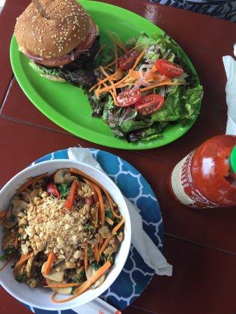 Salud Super Food Veggie Burger and Thai Bowl