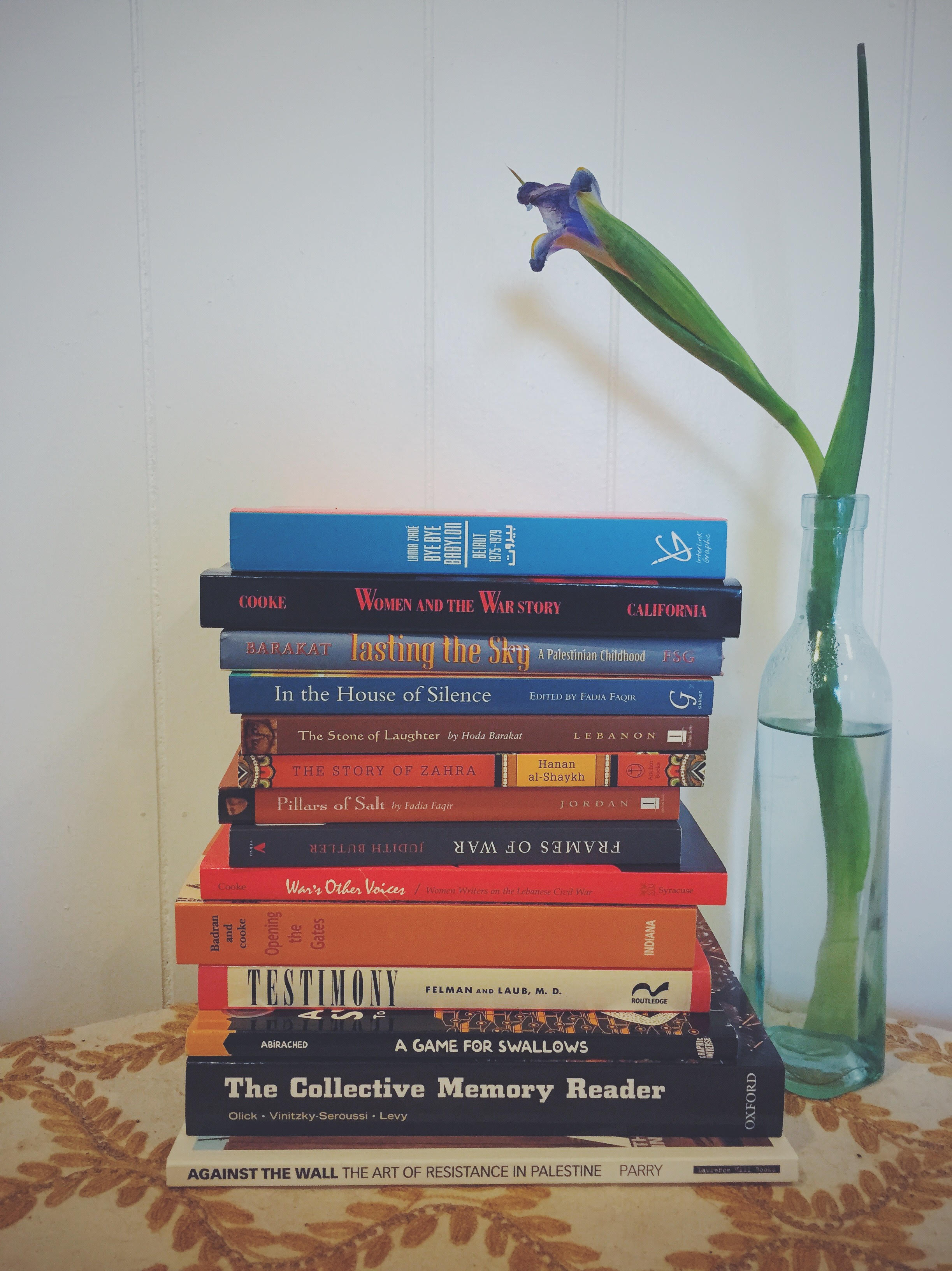 My ever-growing, leaning tower of thesis reading.
