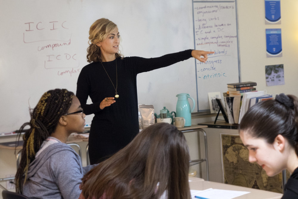 Class discussion with 10th graders. Photo credit: Amy Chaney