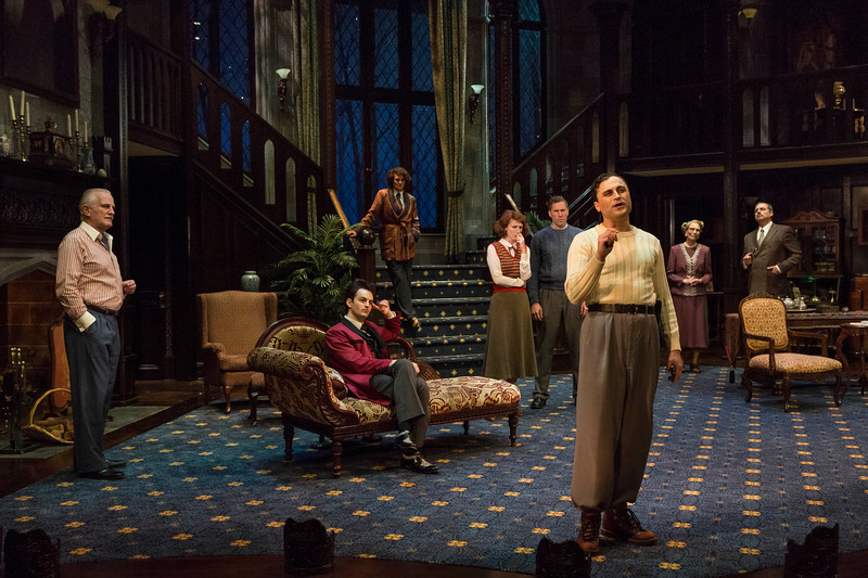 Cast of Mousetrap, Pasternak front; photo by Zach Rosing; set by Rob Koharchik