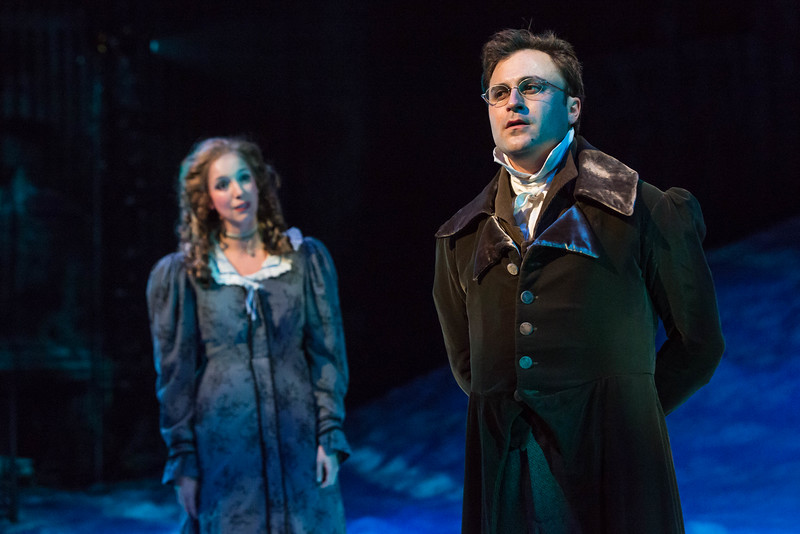 With Amanda Catania in Christmas Carol; photo by Zach Rosing