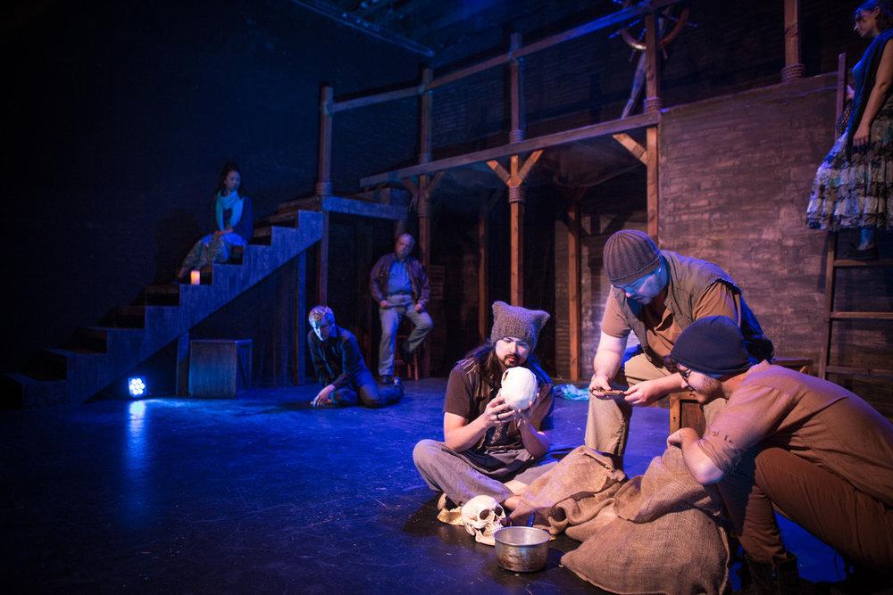 The Fishermen and Pericles - Jono Eiland, Thomas Bigley, & Will Block as the Fishermen; photo by Zachary Andrews