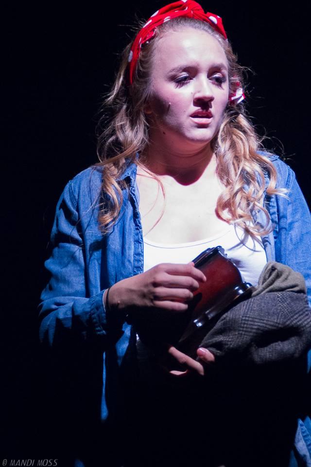 Cameron Kauffman as Imogen; photo by Mandi Moss