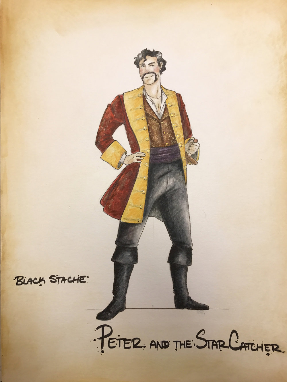 …Pasternak's Black Stache is a scene-stealing, scenery chewing pirate… sometimes flouncing, sometimes menacing, and always hilarious. - Amy McRary, Knoxville News Sentinel; costume design by Erin Nicole Reed