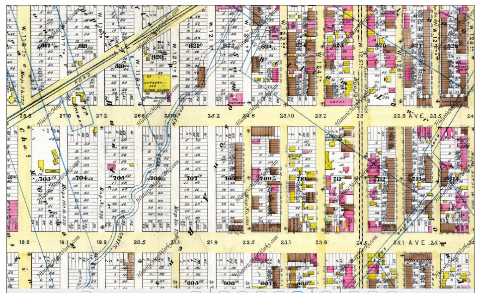 Map of Harlem 1885