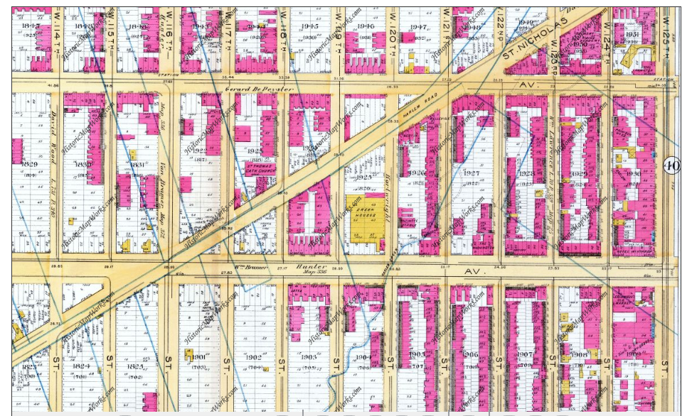 Map of Harlem 1891